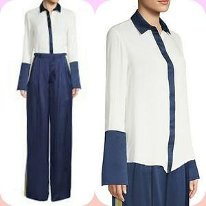 Alexis Julya Silk Colorblock Shirt